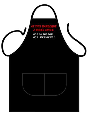 At this BBQ 2 rules apply Apron