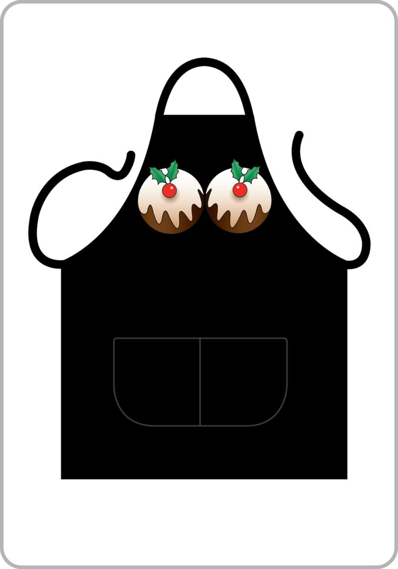 Christmas Pudding Boobs! Apron