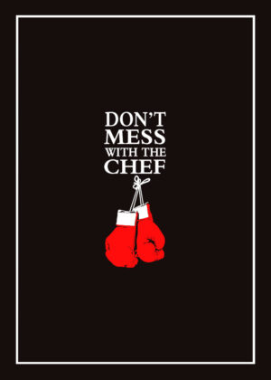 Don't Mess With the Chef & BBQ Rules tea towel