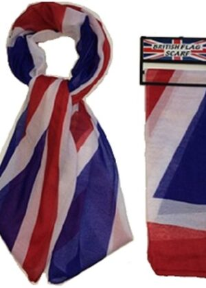 Union Jack flag scarf