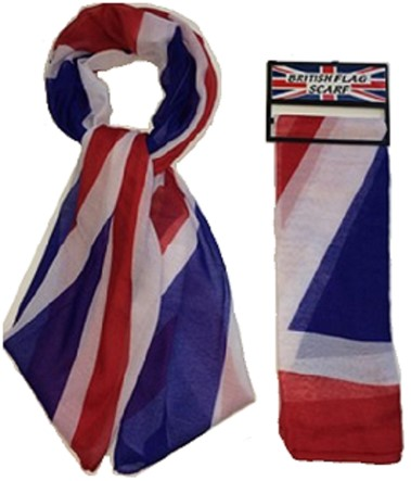 Union Jack flag scarf