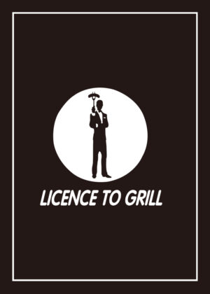 Licence To Grill & BBQ Rules For Men tea towel