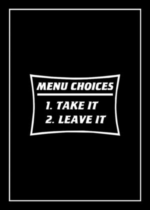 Menu Choices & BBQ Rules For Men tea towel