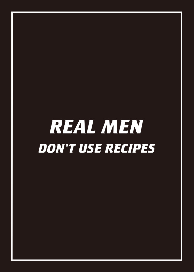 Real Men Don't Use Recipes & BBQ Rules tea towel