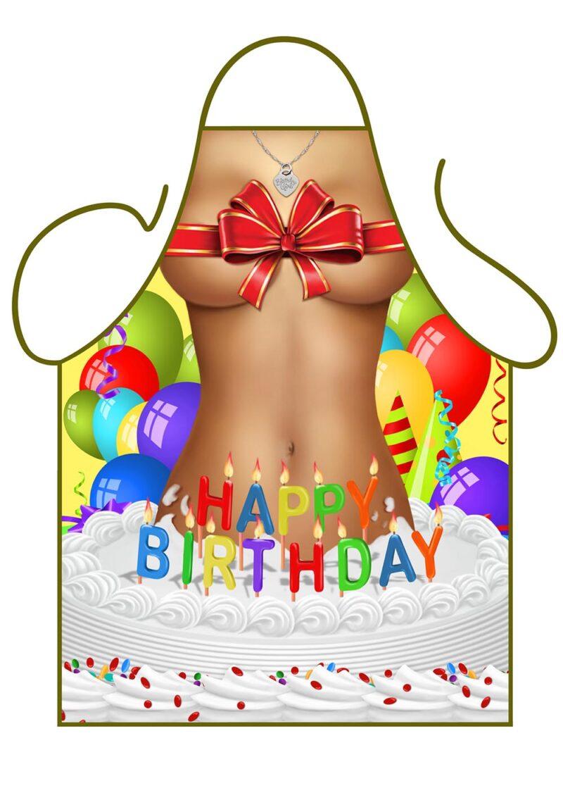Happy Birthday Girl Apron