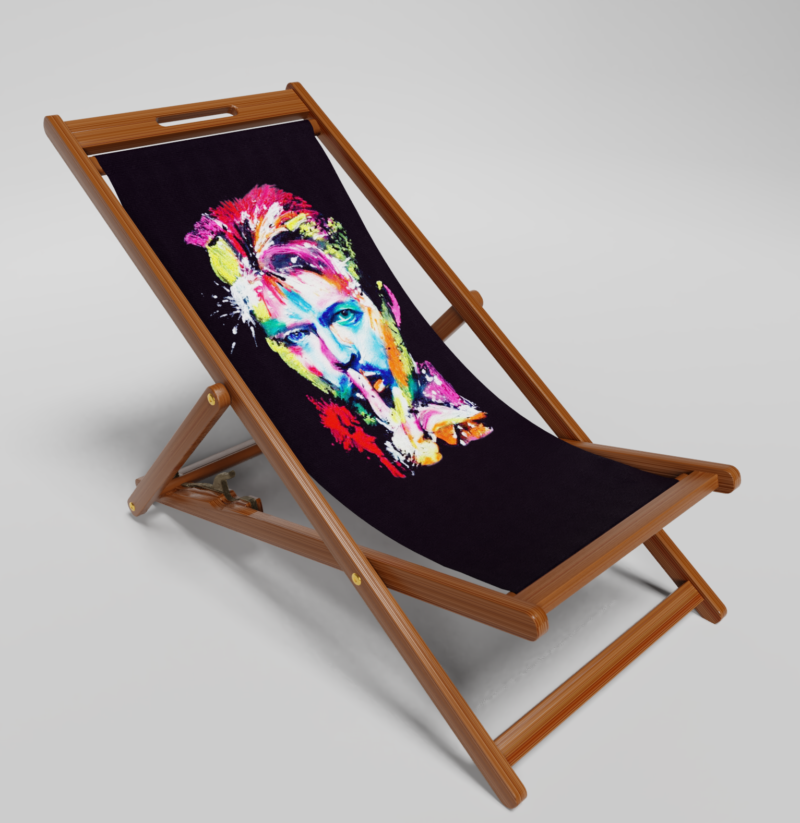 David Bowie Deck Chair