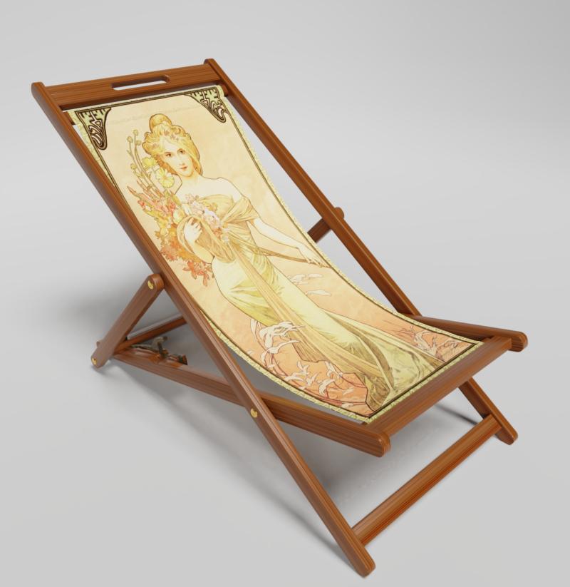 Spring deckchair